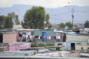 Township dwellings near Cape Town