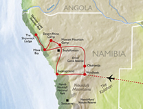 Map of Namibia Skeleton Coast