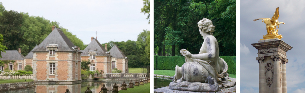 Paris – Chateaux and Historic Gardens  and modern designers influence